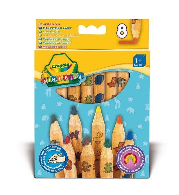8 Maxi crayons de couleur Mini kids
