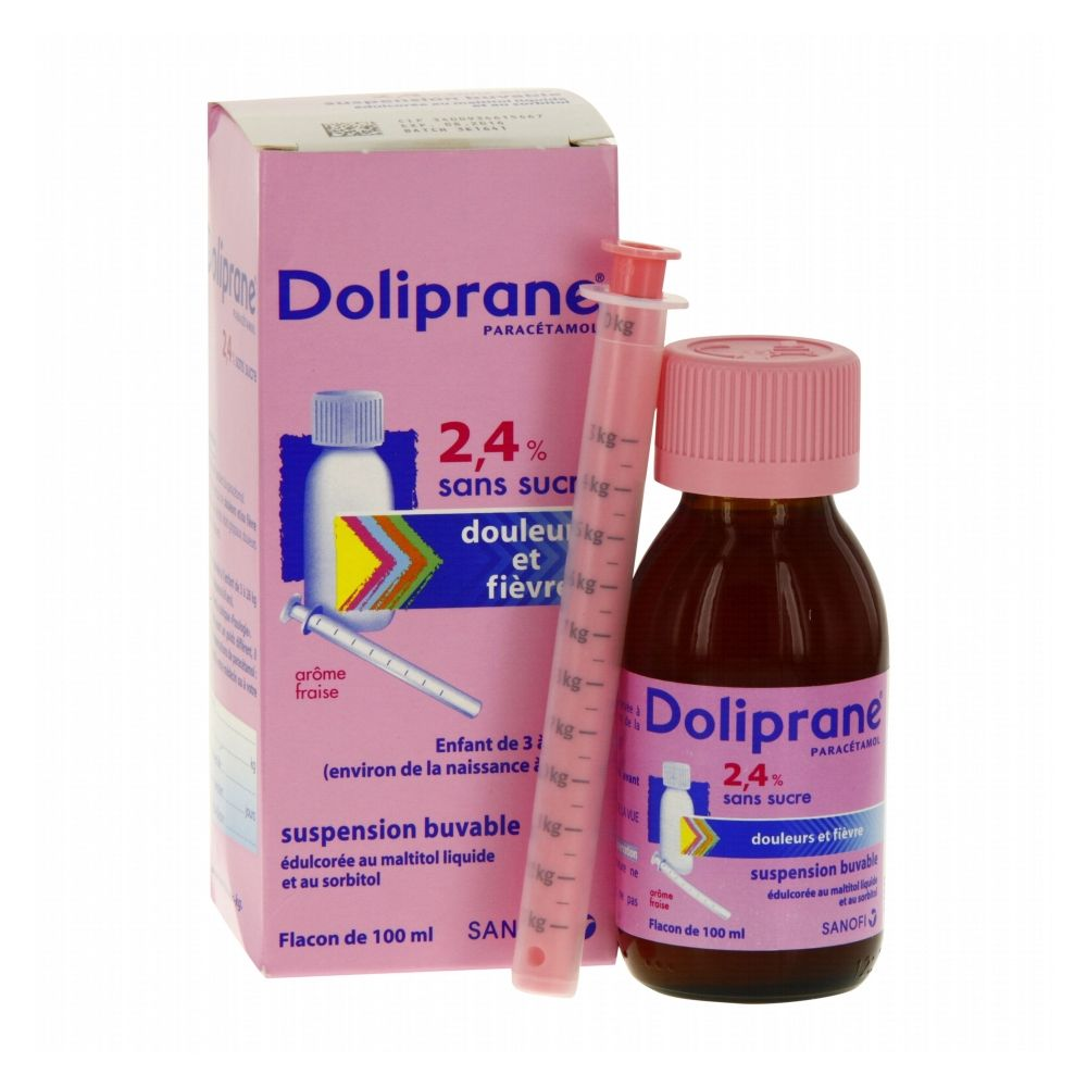 Doliprane 2,4 % - Suspension buvable