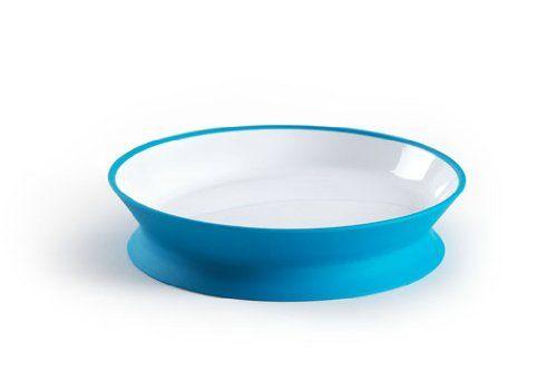 Assiette réversible Diabolo bleue