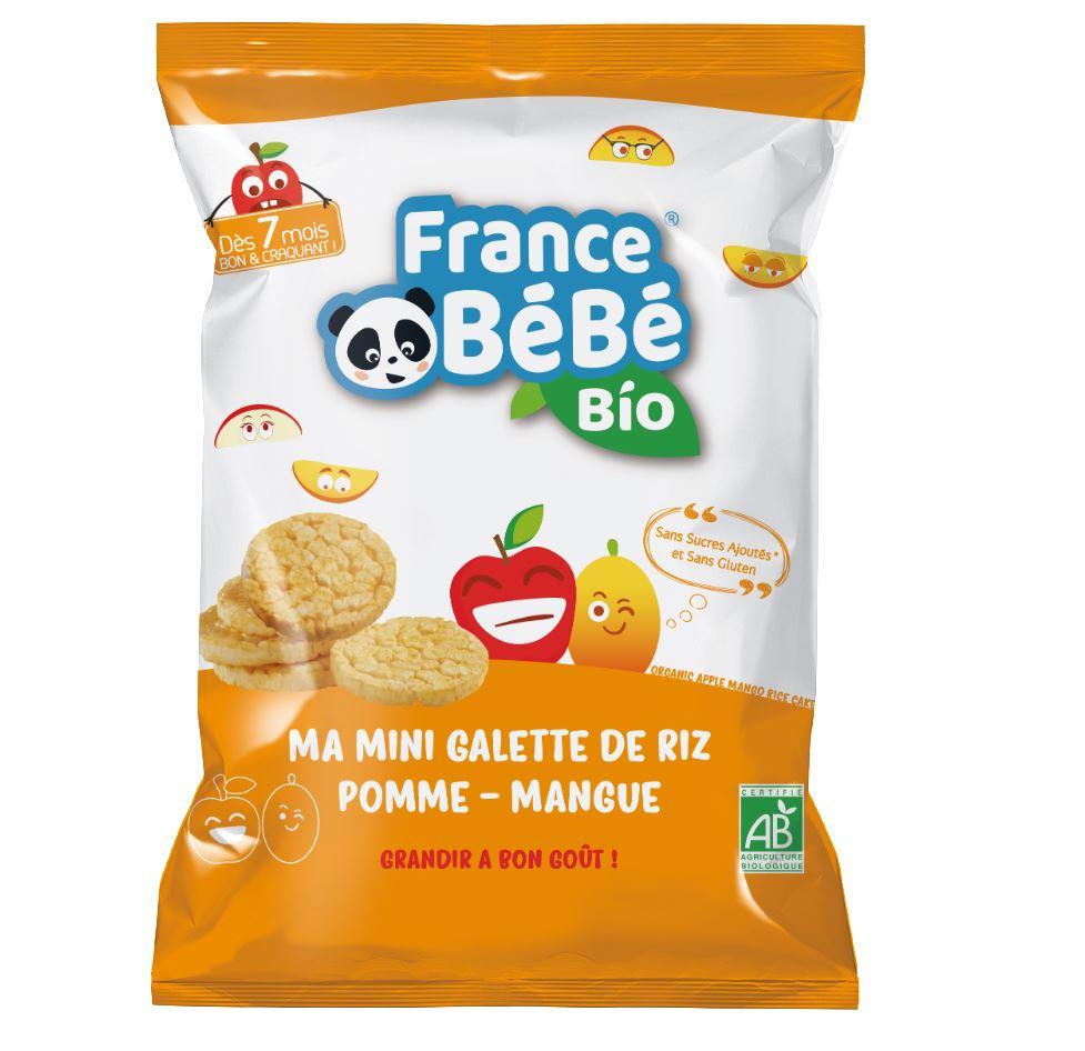 Mini galette de riz Pomme Mangue - 40g - A partir de 7 mois
