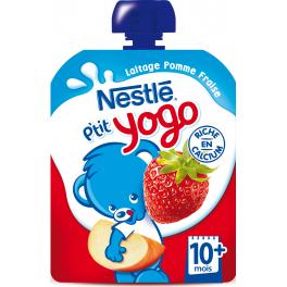 P'tit Yogo - Gourde lactée pomme fraise (dès 4 mois)