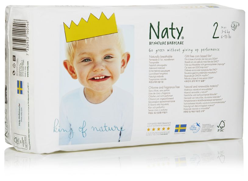 Couches Naty écologiques taille 2 NATURE BABYCARE