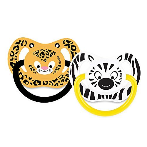 Sucette physiologique +6 mois Duo Jungle (silicone)