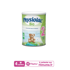 Lait Physiolac 2 Bio 900g