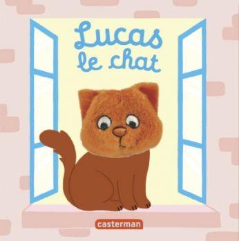 Livre marionnette Lucas, le chat