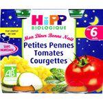 Menu Bonne Nuit Petites Penne Tomates Courgettes - 2 pots x 190g - 6 mois