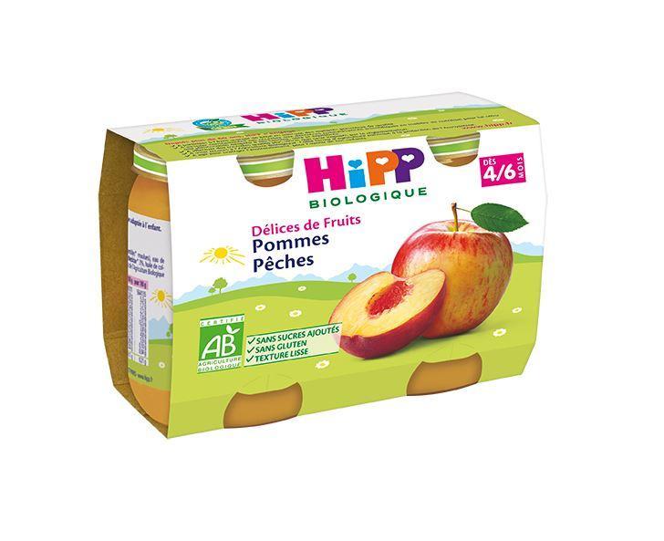 Pommes Pêches - 2 pots x 190g - dès 4/6 mois