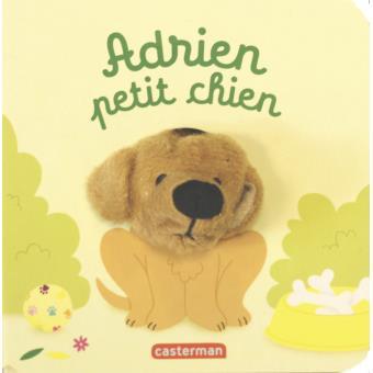 Livre marionnette Adrien, petit chien