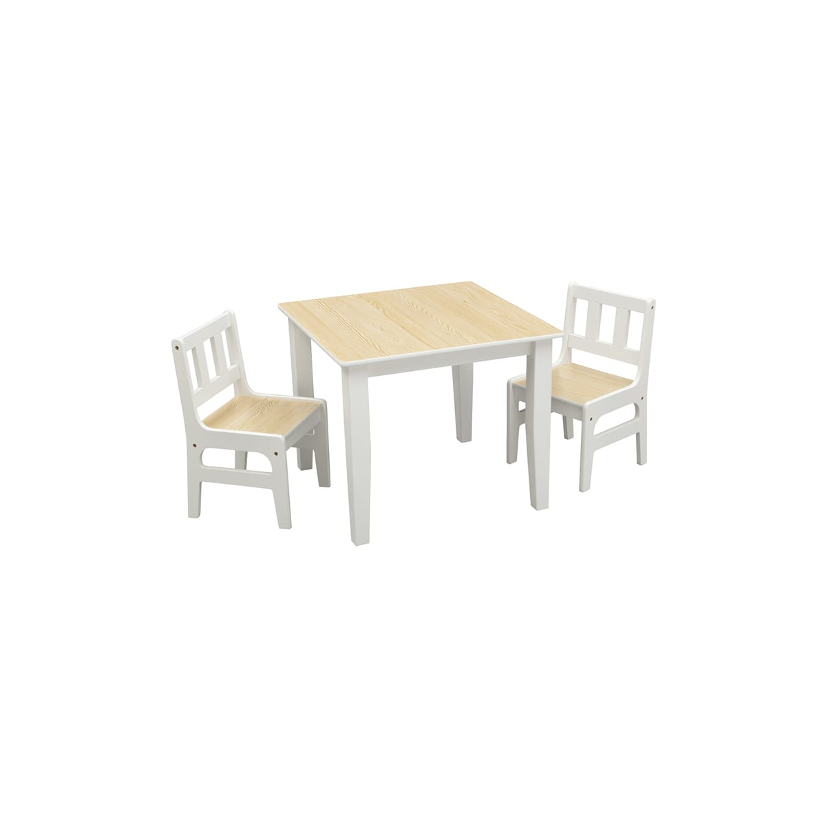 Table rectangulaire + 2 chaises pour enfants TWIN