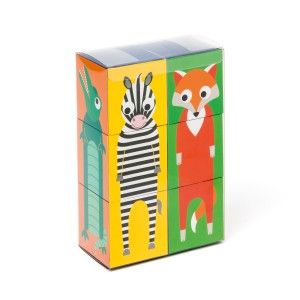 6 Cubes animaux