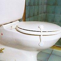 Loquet souple pour toilettes