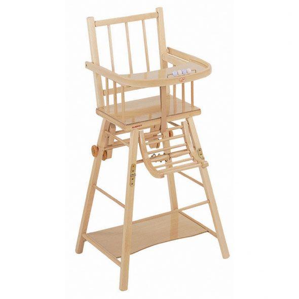 Chaise haute transformable vernie