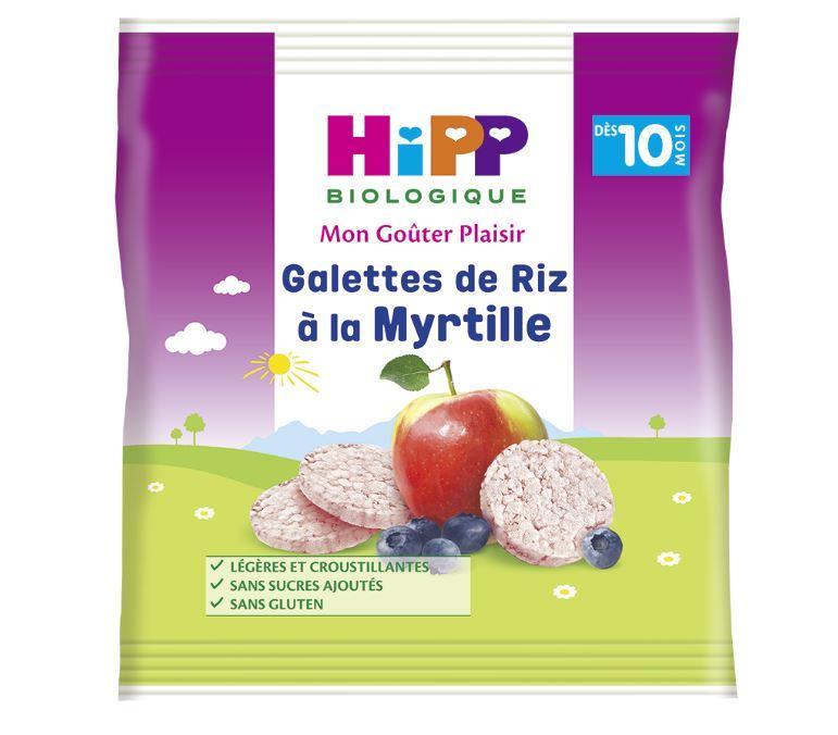 Galettes de riz à la Myrtille - 1 sachet x 30g - dès 10 mois