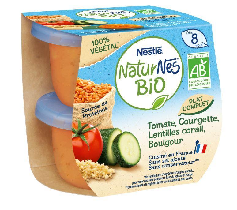 Naturnes BIO VEGETAL Tomate, Courgette, Lentilles Corail, Boulgour