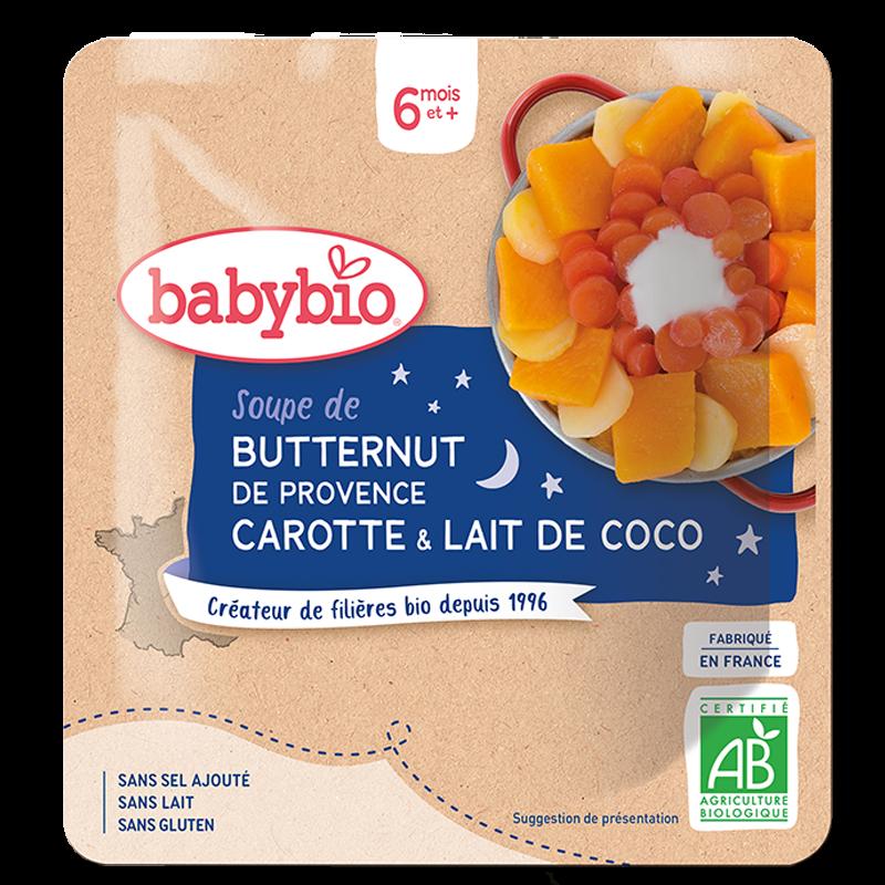 Bonne Nuit Soupe de Butternut de Provence Carotte au lait de Coco