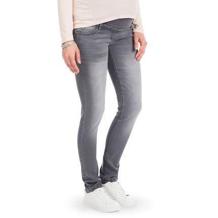 Jeans coupe slim de grossesse effet used